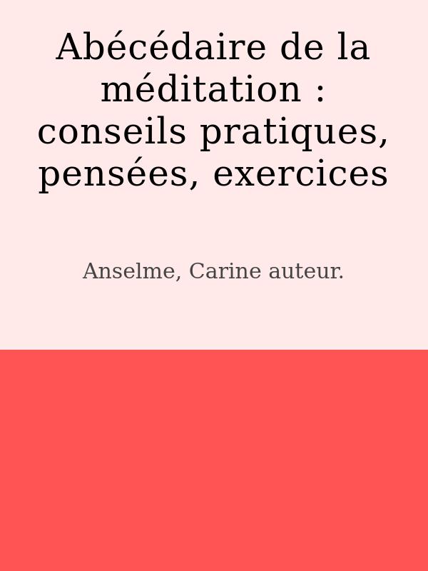 Abécédaire de la méditation